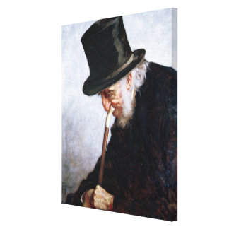 A Retired Sea Captain from Massachusetts, 1879 Stretched Canvas Print