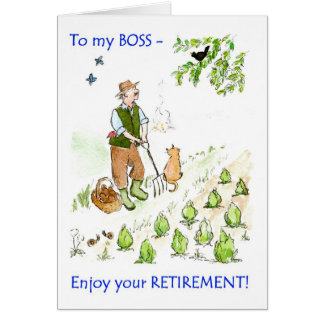 A Retirement Greeting Card for a Boss