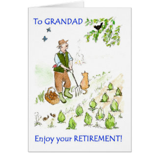 A Retirement Greeting Card for a Grandfather