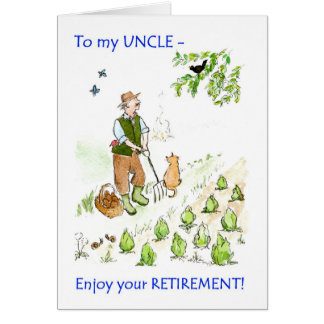 A Retirement Greeting Card for an Uncle