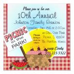A Reunion   Picnic in the Park   Any Occasion 13 Cm X 13 Cm Square Invitation Card