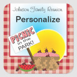 A Reunion   Picnic in the Park   Any Occasion Square Sticker