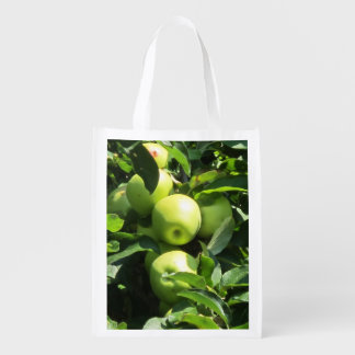 A Reusable Bag With A Photo Of Apples On It