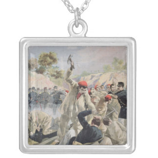 A Revolt of French Anarchists in Guyana Silver Plated Necklace