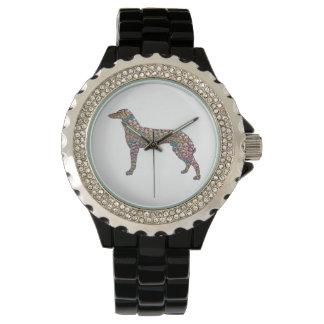 A Rhinestone Greyhound Watch