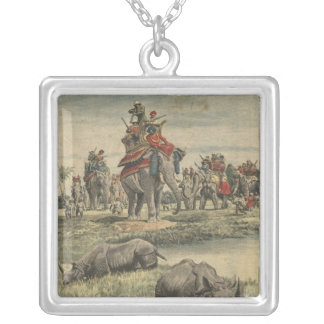 A rhinoceros hunt in honour of King George V Necklace