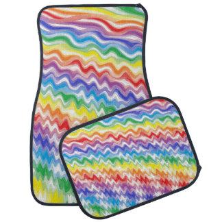 A Rhythmic Rainbow Car Mat