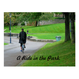 A Ride in the Park. Postcard