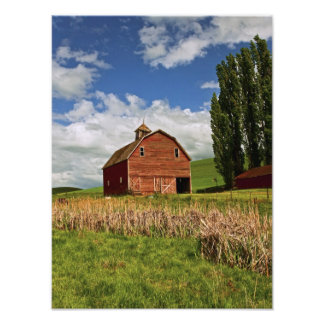 A ride through the farm country of Palouse Photo Print