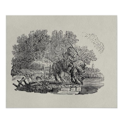 A Rider Distracted by a Flock of Birds Print