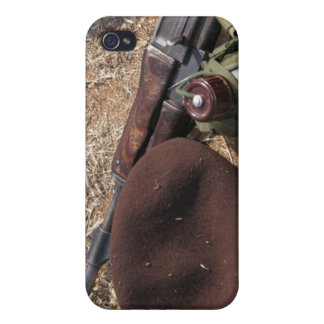 A rifle, military cover and canteen cover for iPhone 4