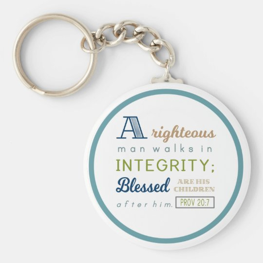 A Righteous Man Walks in Integrity, Scripture Key
