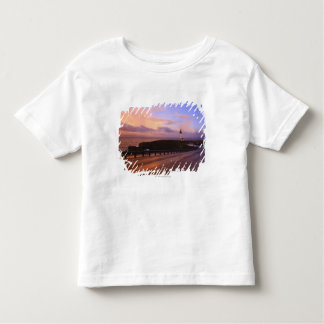 A Road & A Lighthouse Along The Coast At Sunset Toddler T-Shirt