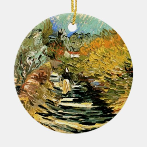 A Road at Saint-Remy with a girl by van Gogh Christmas Ornaments