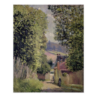 A Road in Louveciennes, 1883 Poster