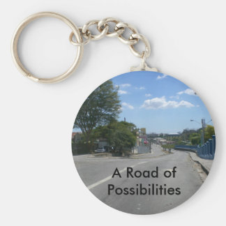 A Road of Possibilities Basic Round Button Key Ring