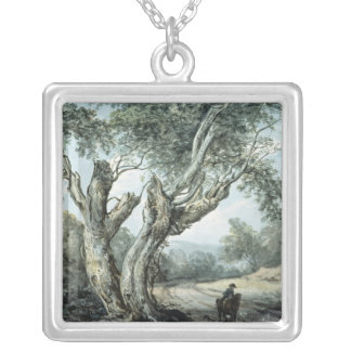 A Road Through Windsor Forest Silver Plated Necklace