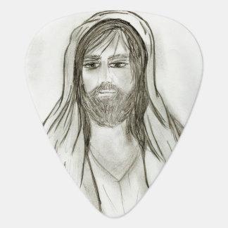 A Robed Jesus Guitar Pick