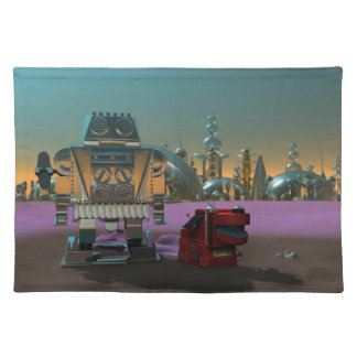 A Robot and His Dog Placemats