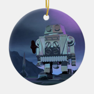 A Robot Moon Walker Ornament