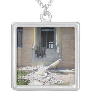 A Rocket Propelled Grenade Silver Plated Necklace