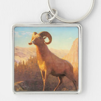 A Rocky Mountain Sheep by A. Bierstadt Key Chain