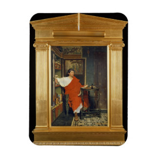 A Roman Scribe Writing Dispatches, 1865 (oil on pa Rectangular Photo Magnet