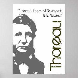 A Room To Myself Thoreau Poster