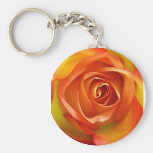 A Rose by any other name Basic Round Button Key Ring