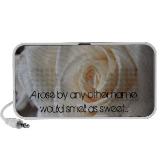 A Rose by any other name would smell as sweet Travel Speaker