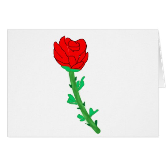 a-rose card