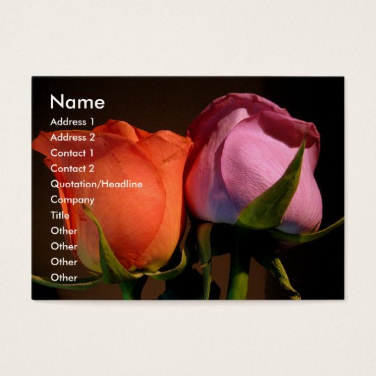 A Rose Couple Business Card