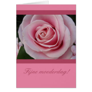 A rose for mothersday dutch card
