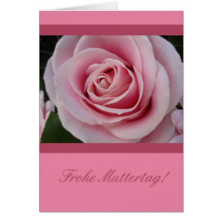A rose for mothersday german card