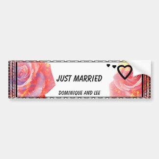 """""""A Rose for You""""Just married car bumper sticker""""* Bumper Sticker"""