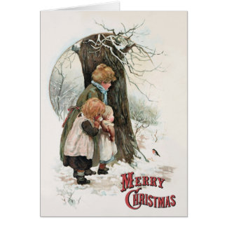 A Round Robin - Vintage Christmas by H M Bennett Greeting Card