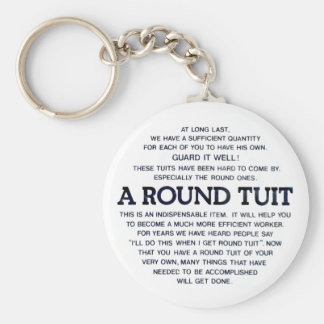 A Round Tuit Basic Round Button Key Ring