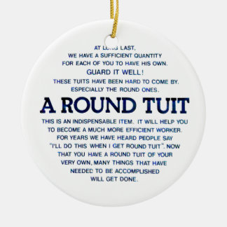 A Round Tuit Ornament