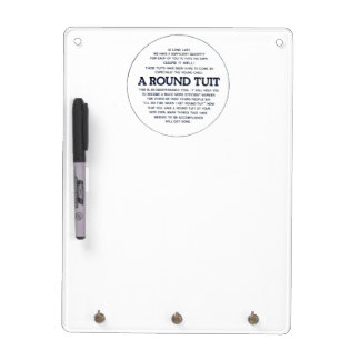 A round Tuit Dry-Erase Board