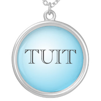 A ROUND TUIT SILVER PLATED NECKLACE