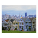 A row of Victorian homes Poster