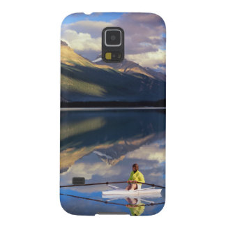 A rower on Banff Lake in the Canada MR) Cases For Galaxy S5