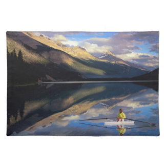 A rower on Banff Lake in the Canada MR) Placemat