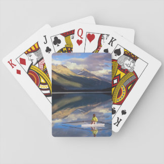 A rower on Banff Lake in the Canada MR) Playing Cards