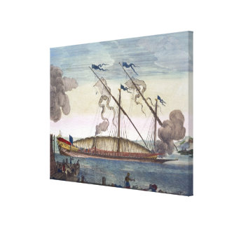 A Royal Galley (Spanish or Portuguese) rowed by sl Canvas Print