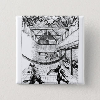 A Royal Game of Tennis in the Jeu de Paume 15 Cm Square Badge