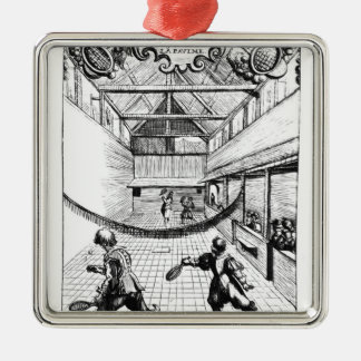 A Royal Game of Tennis in the Jeu de Paume Christmas Ornament