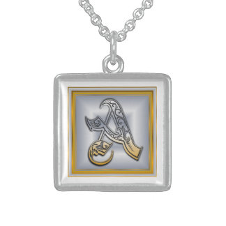 A Royal Initial Monogram Necklace Pendant
