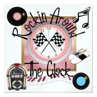 A Royally Racing Flags Rockin' Party - SRF 13 Cm X 13 Cm Square Invitation Card
