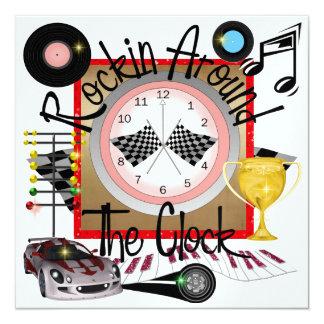 A Royally Rockin' Race Car Party - SRF 13 Cm X 13 Cm Square Invitation Card
